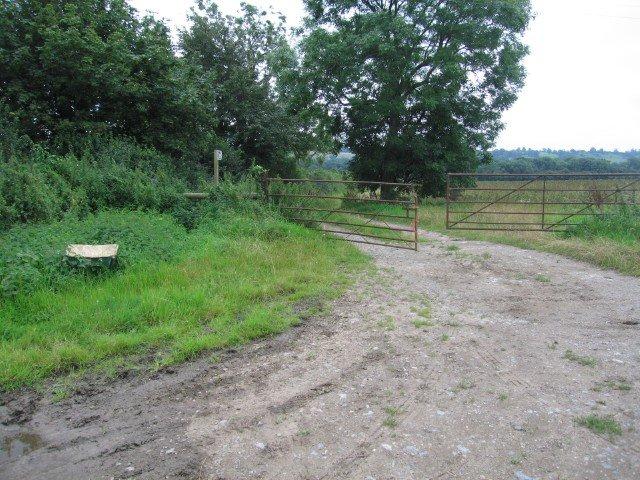 Gateway to a public footpath