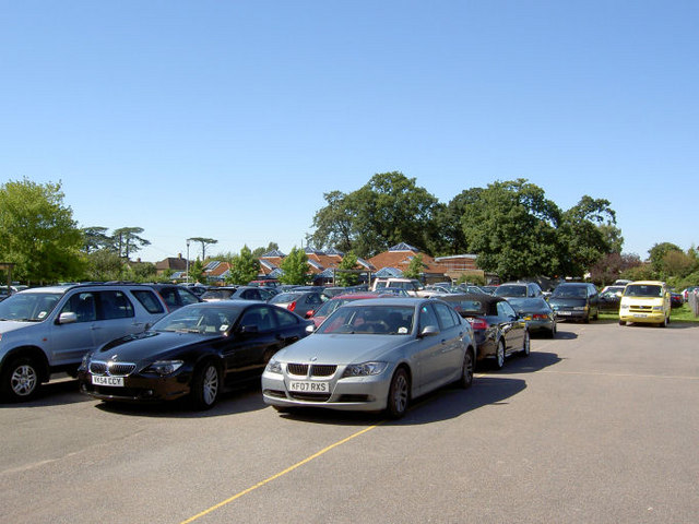 Car park in school grounds.