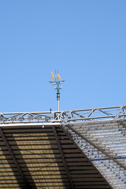 Rugby weather vane.