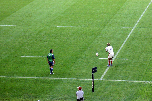 Wilkinson about to make another conversion against Wales.