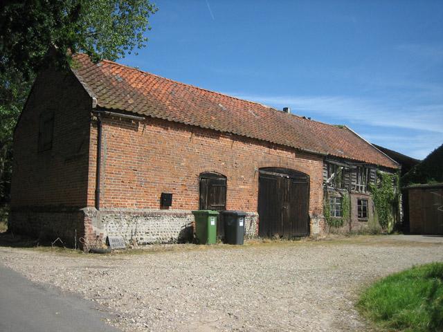 Farm buildings at Red House farm