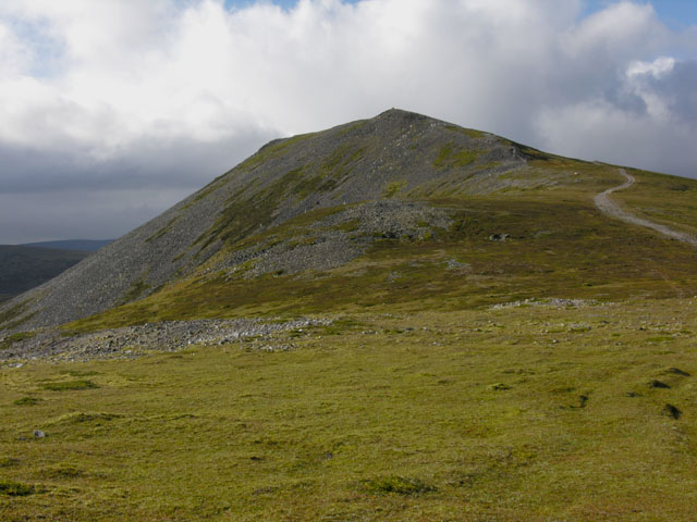 The summit of Carn a' Chlamain