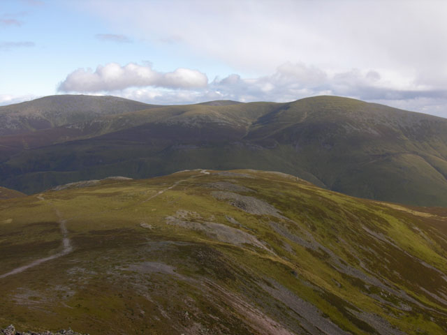 View south east from Carn a' Chlamain
