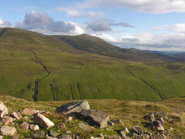View south from Fàire Clach-ghlais