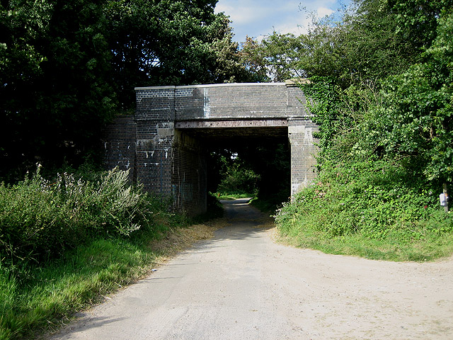 Disused railway bridge south of Briston