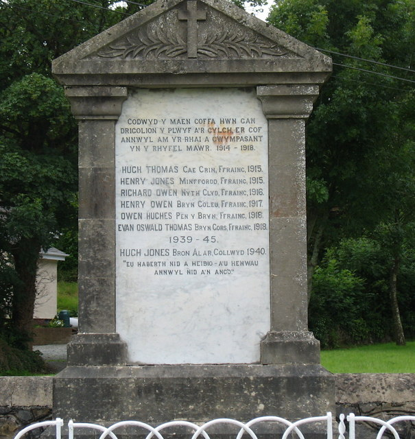 Cofeb Ryfel Talwrn War Memorial