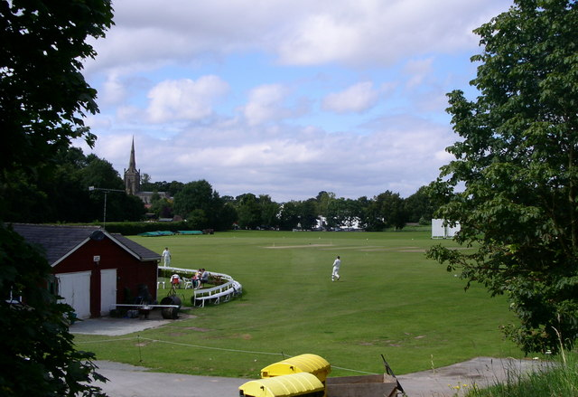 The cricket ground Ombersley