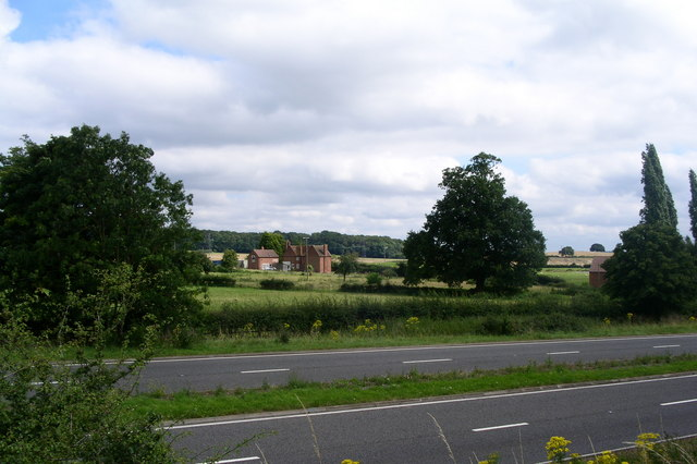 Property beside the bypass at Ombersley