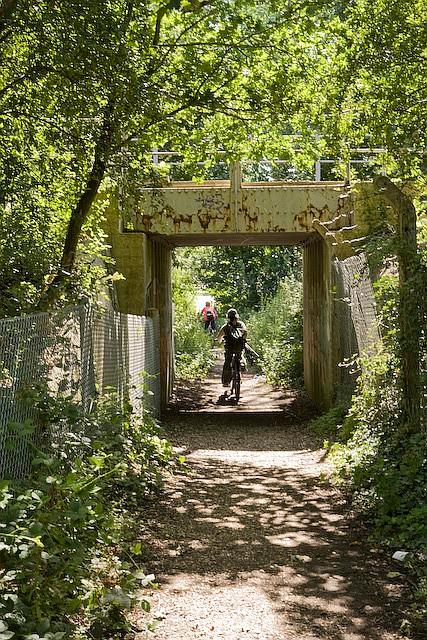 Path beneath railway line at Hythe