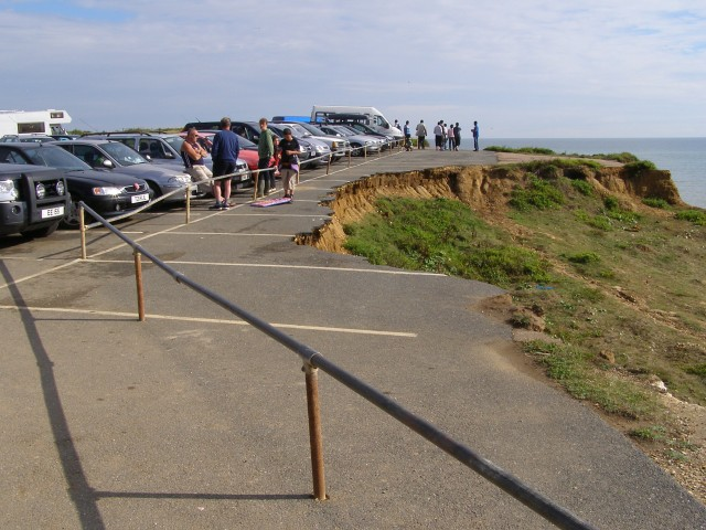 Landslip at Shippards Chine car park