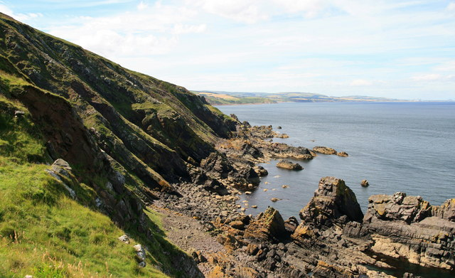 The coastline west of Fast Castle