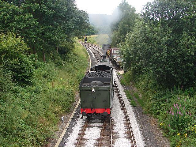 Western end of Llangollen Steam Railway at Carrog
