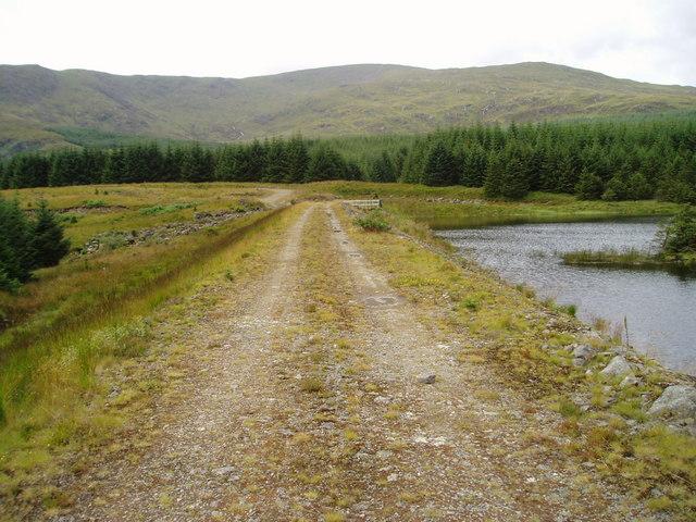 Loch Mannoch dam.