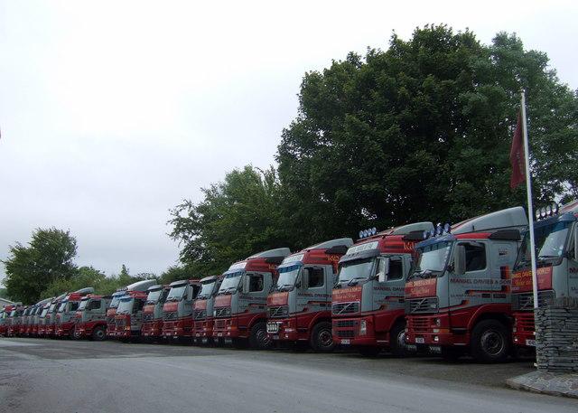 Lorry depot,  Llanfyrnach
