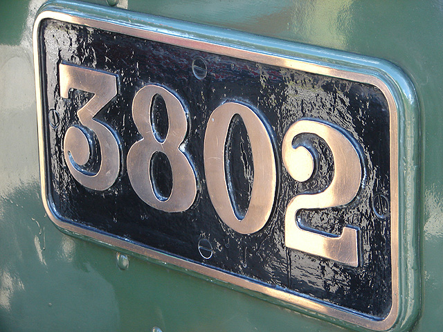 GWR Style Locomotive Number Plate