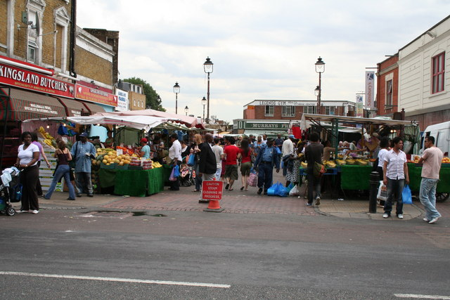 Street Market off Kingsland High Street