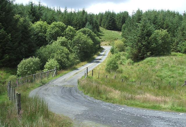 Forestry Road over Nant Ganol, Ceredigion