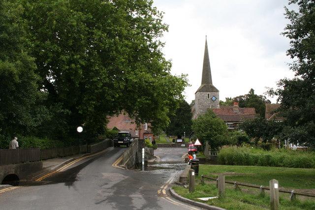 Eynsford: Bridge, Ford and St. Martin's Church