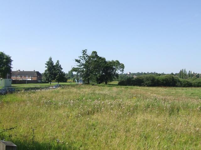 Rough grazing next to Wolverhampton Road.