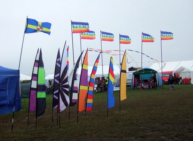 Flags at the festival