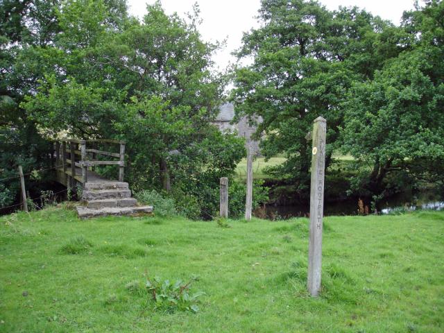 Warslow, footbridge across the Manifold