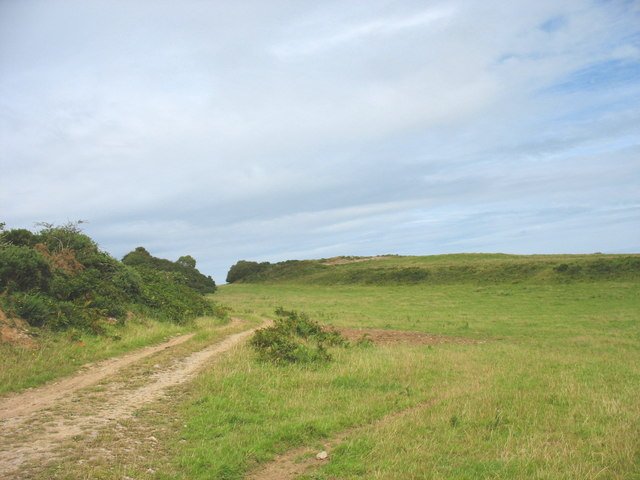 Track past limestone outcrop