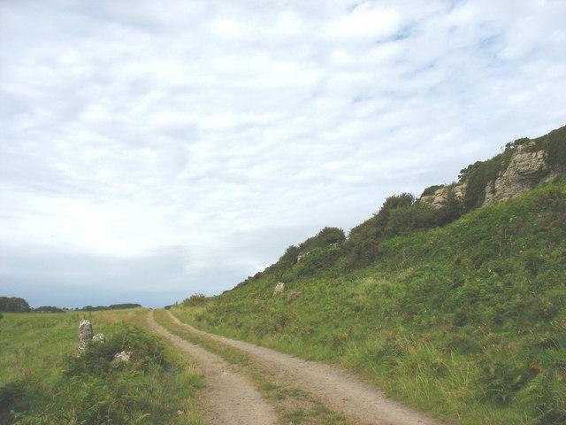 Track below limestone scar