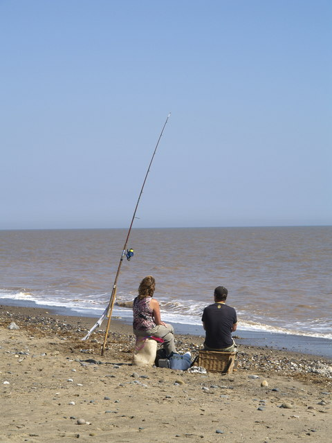 Fishing on the Coast near Kilnsea