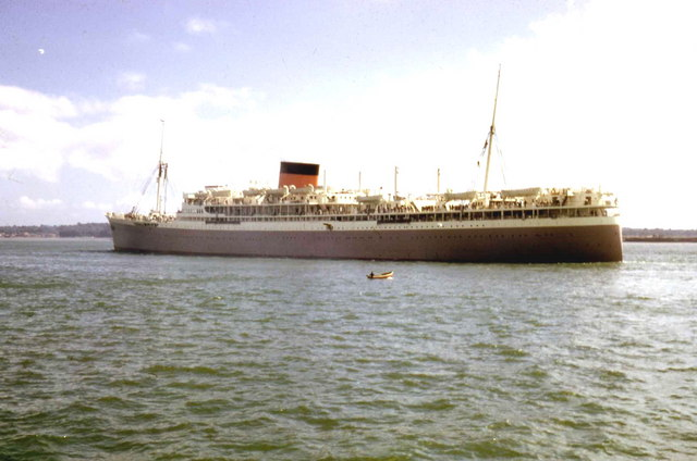 "The Liner ""Stirling Castle"" leaving Southampton June 1962"