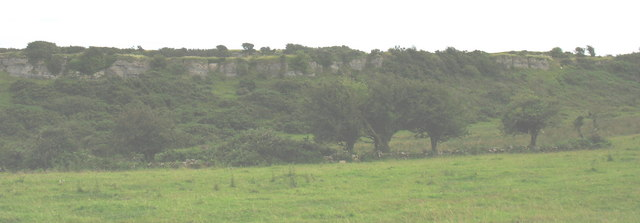 View south towards the limestone scar