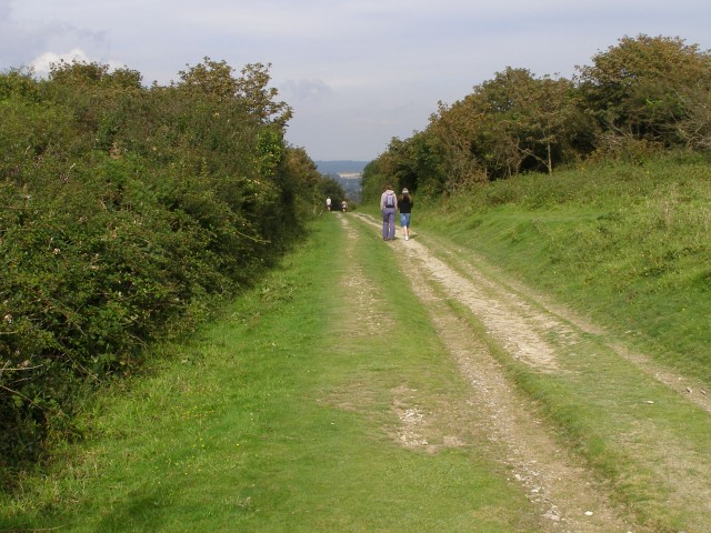 Footpath to Tennyson Down car park, High Down