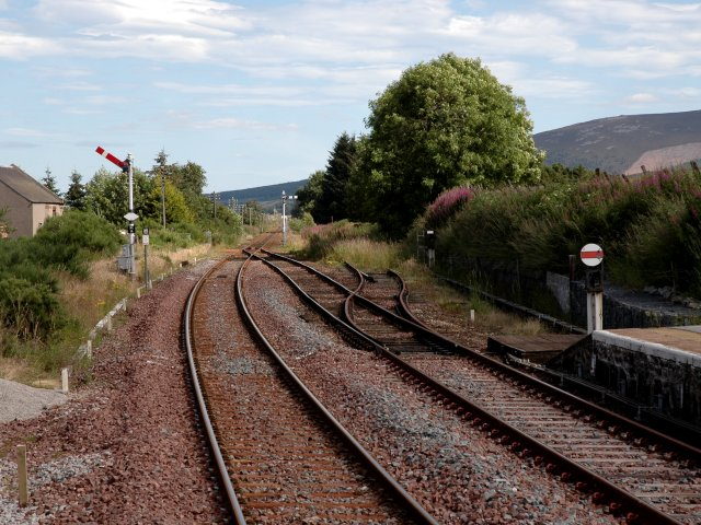 Railway Line from Insch Station Looking East