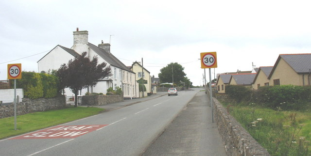 Approaching the junction of the B5108 and B55110
