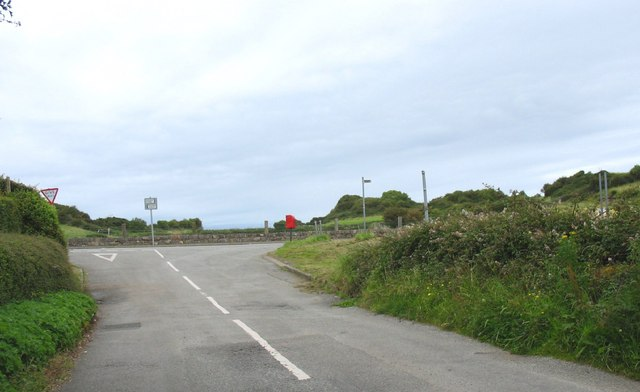 Junction of minor road with the B5108