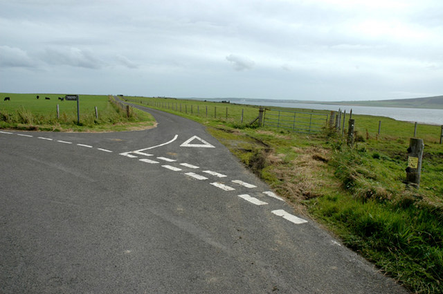 Road junction to Westshore in Rendall