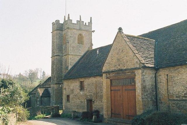 Lillington: barn and church