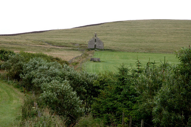 Old ruined kirk at Hackland, Rendall