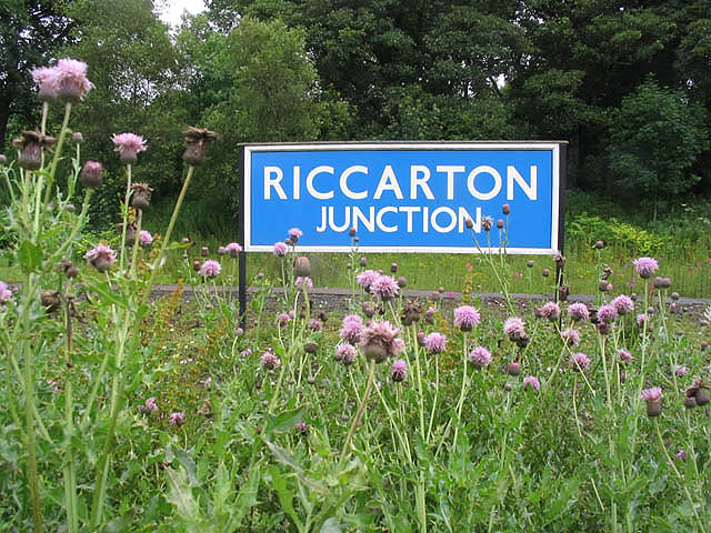 Riccarton Junction sign