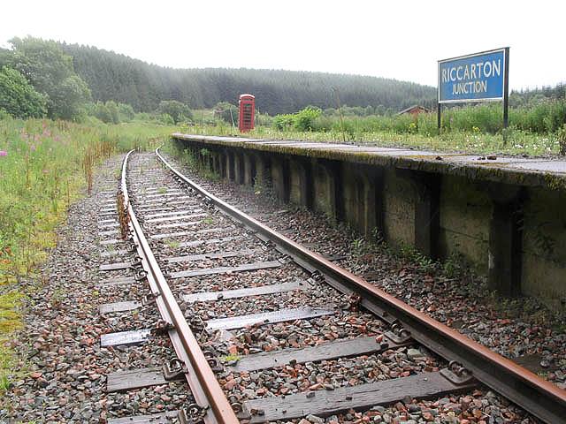 Riccarton Junction southbound platform