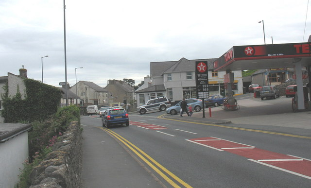 The crossroads at the centre of Benllech