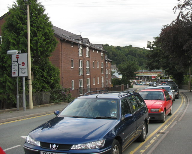 Traffic queue in Holyhead Road on the evening of 01 August, 2007