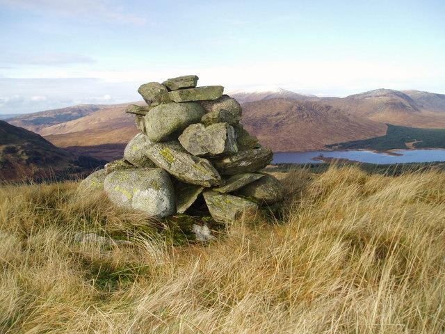 A cairn near the summit of Cairngarroch