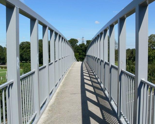 Footbridge across the A6