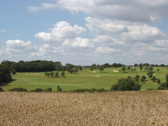 Wycombe Heights Golf Centre and wheat field