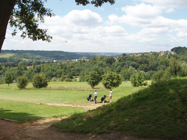 Golf course, view to High Wycombe
