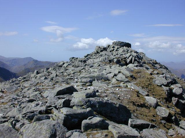 The summit of An Cliseam (Clisham)