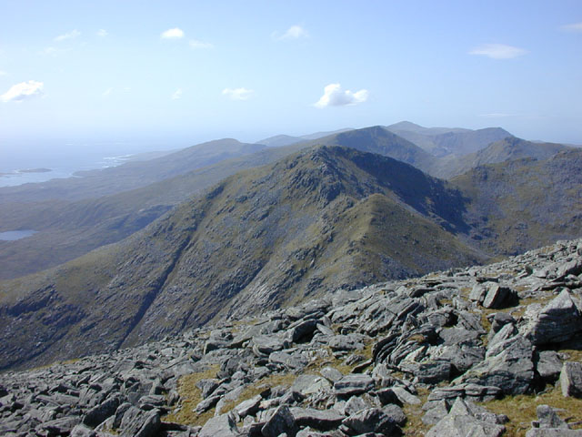 View west north west from Clisham
