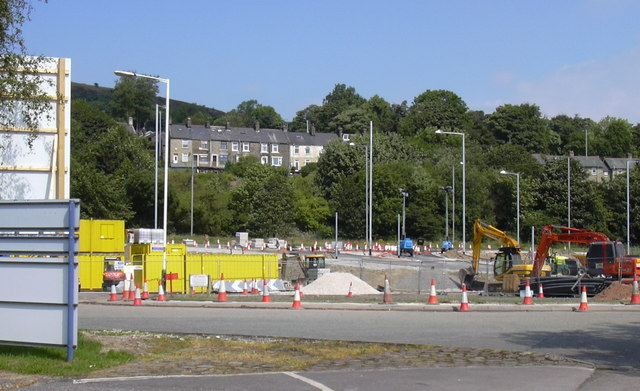 Roundabout under Construction A682