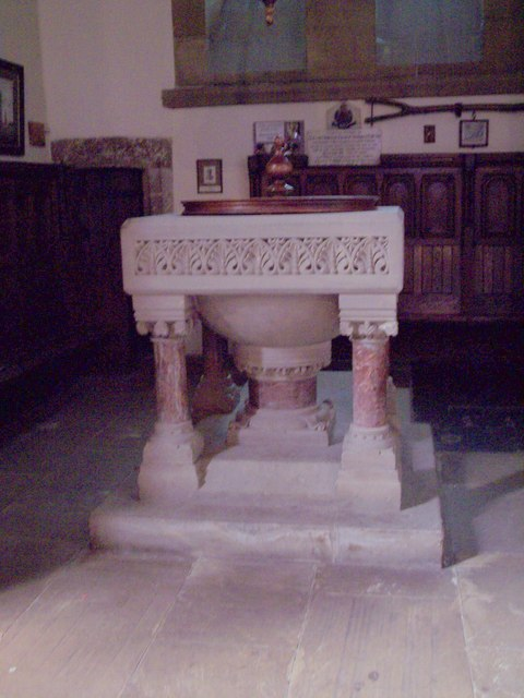 All Saints Church, Helmsley - Font