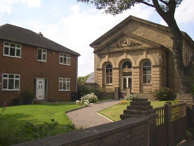 Methodist Chapel and manse, Bradford Road, Birkenshaw